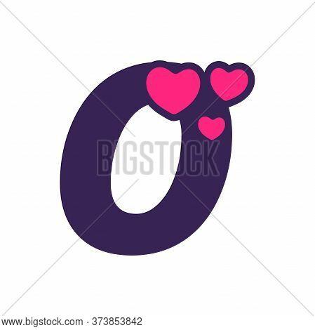 Simple And Cute Illustration Logo Design Initial O Love.