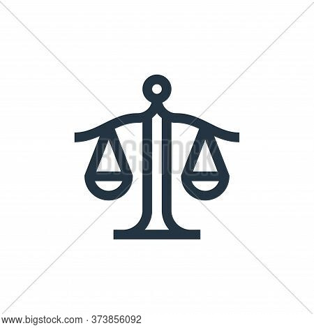 justice icon isolated on white background from management collection. justice icon trendy and modern
