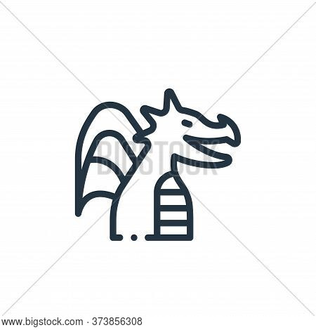 dragon icon isolated on white background from videogame elements collection. dragon icon trendy and
