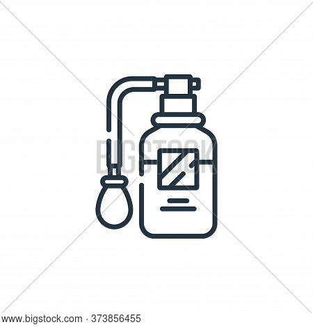 perfume icon isolated on white background from hairdressing and barber shop collection. perfume icon