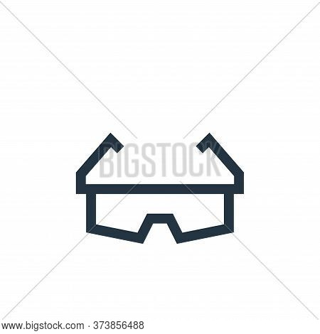 safety glasses icon isolated on white background from pharmacy collection. safety glasses icon trend