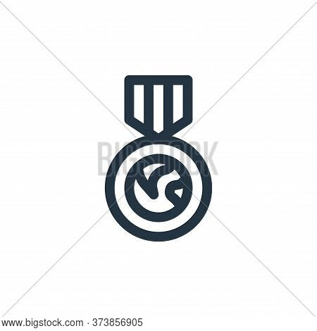 medal icon isolated on white background from world love collection. medal icon trendy and modern med