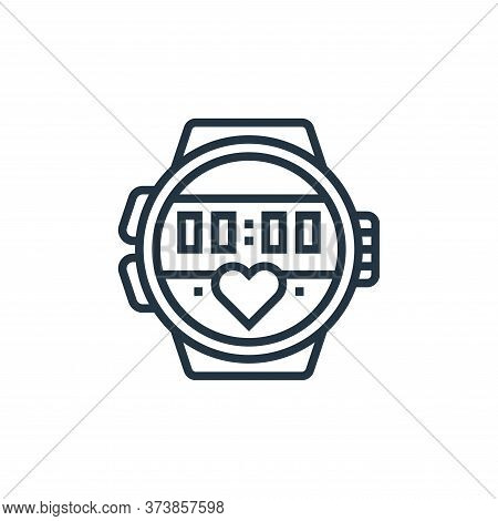sport watch icon isolated on white background from fitness collection. sport watch icon trendy and m