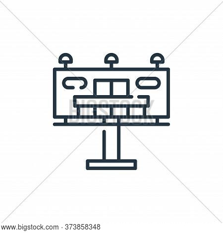 billboard icon isolated on white background from mall collection. billboard icon trendy and modern b