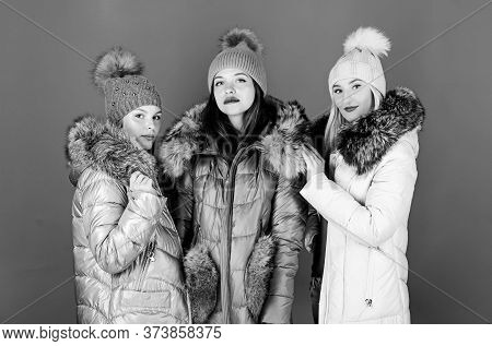 Trendy Winter Coat. Girls In Beanie. Flu And Cold. Seasonal Shopping. Winter Clothing Fashion. Faux