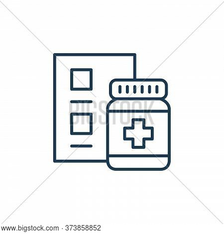 medication icon isolated on white background from retirement collection. medication icon trendy and