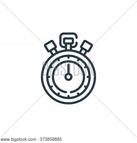 stopwatch icon isolated on white background from baseball collection. stopwatch icon trendy and mode