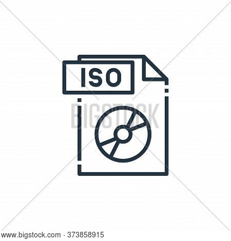 iso file icon isolated on white background from file type collection. iso file icon trendy and moder
