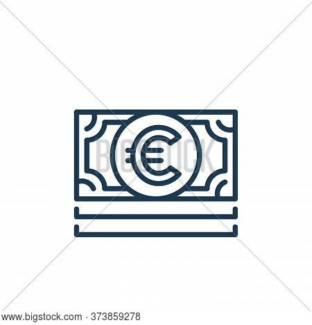 euro bill icon isolated on white background from money and currency collection. euro bill icon trend