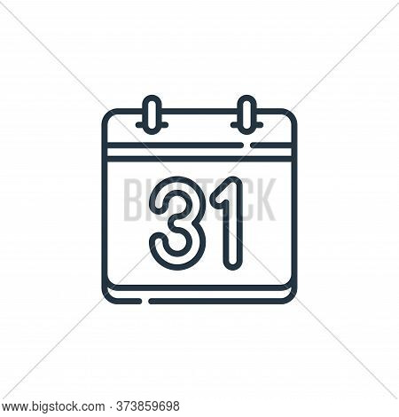 calendar icon isolated on white background from calendar and date collection. calendar icon trendy a