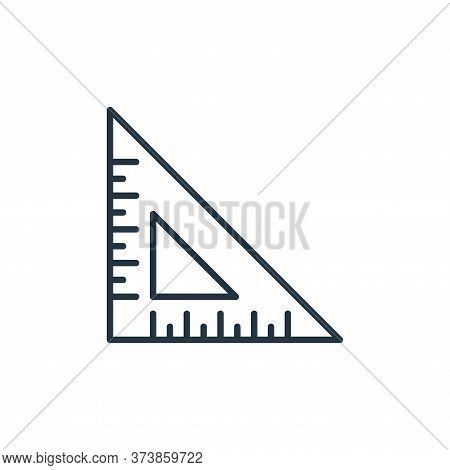 triangular ruler icon isolated on white background from education collection. triangular ruler icon