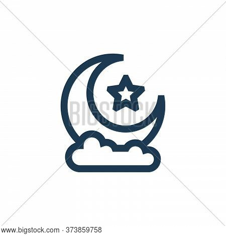 half moon icon isolated on white background from ramadan collection. half moon icon trendy and moder