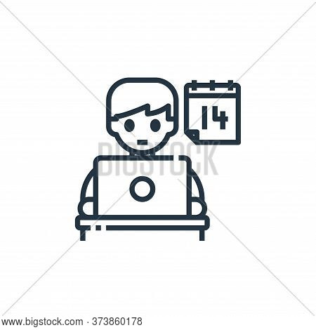 calendar icon isolated on white background from working from home collection. calendar icon trendy a