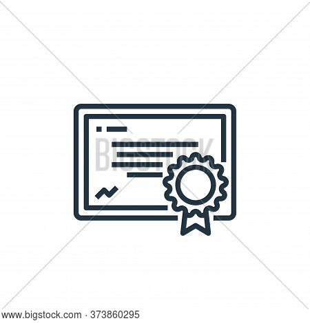 certificate icon isolated on white background from human resources collection. certificate icon tren