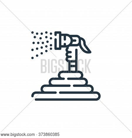 hose icon isolated on white background from cleaning collection. hose icon trendy and modern hose sy