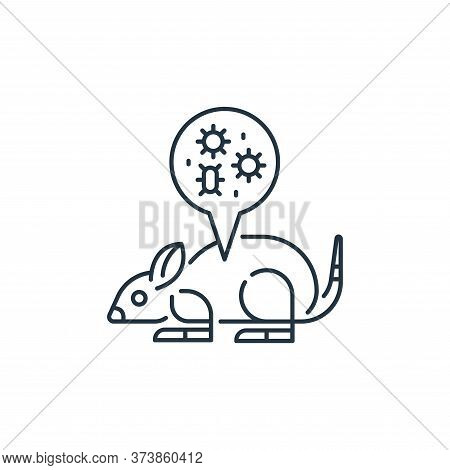 mouse icon isolated on white background from virus transmission collection. mouse icon trendy and mo
