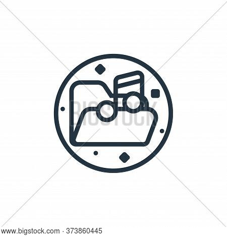 music folder icon isolated on white background from music and sound collection. music folder icon tr