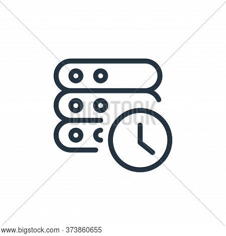 timer icon isolated on white background from work office server collection. timer icon trendy and mo