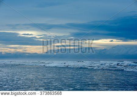 Playa El Cuco Is A Quintessential El Salvador Beach Town. Its Dark Sands Are Lined With Vendor Huts