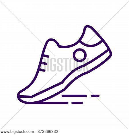 Black Line Icon For Running-shoe Running Shoe Sport Jogging Athletic Workout Footwear Brogue Footgea