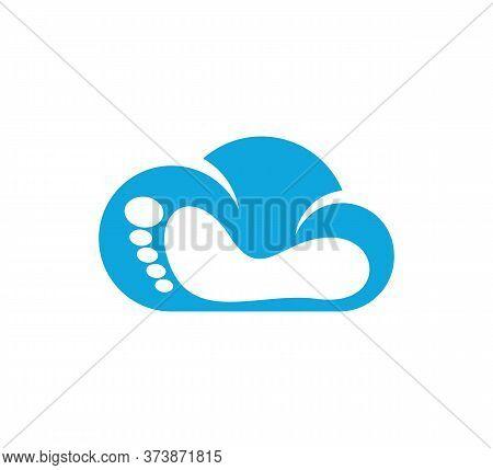 Cloud Foot Logo Vector Template, Creative Of Foot Logo Design Concepts