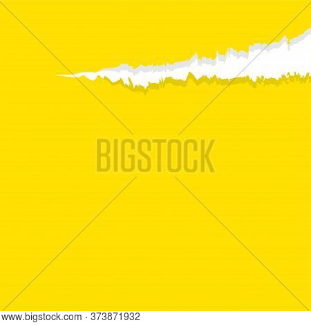 Paper Yellow With Tear Marks For Banner Copy Space, Paper Rip Torn Yellow Square Background, Yellow