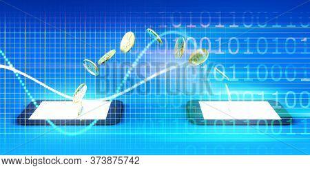 Mobile Phone Internet Banking Digital Security Concept 3D Render