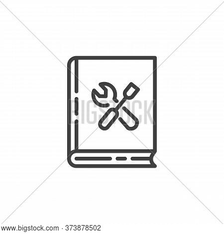 Manual Book Line Icon. Linear Style Sign For Mobile Concept And Web Design. Technical Manual Book Ou