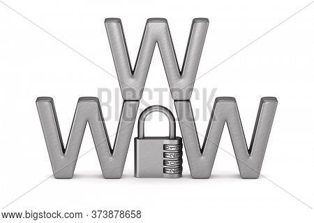 safety internet on white background. Isolated 3D illustration