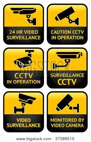 Security camera sign set