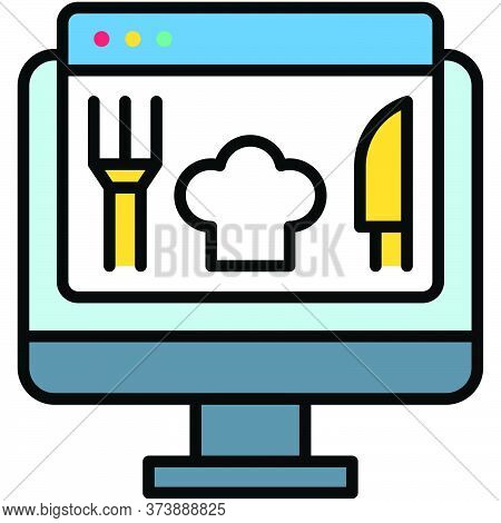 Order Food, Telecommuting Or  Remote Work Related Icon