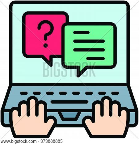 Live Chat, Telecommuting Or  Remote Work Related Icon