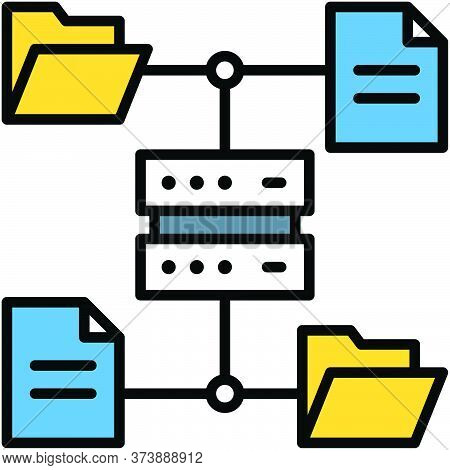File Server, Telecommuting Or  Remote Work Related Icon