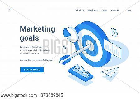 Modern Web Banner Advertising Marketing Goals Pursue