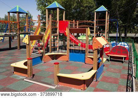 Empty Children Playground. Kids Playground. Children Playground