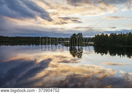 Nature Of Russia. The Republic Of Karelia. Islands On The Horizon. Wild Nature. Calm On The Lake. Ch