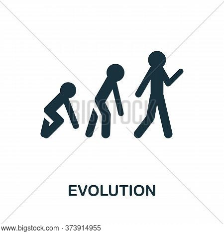 Evolution Icon. Creative Simple Design From Artificial Intelligence Icons Collection. Filled Evoluti