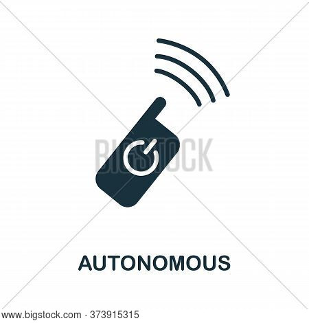 Autonomous Icon. Creative Simple Design From Artificial Intelligence Icons Collection. Filled Autono