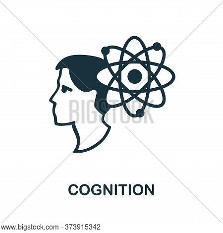 Cognition Icon. Creative Simple Design From Artificial Intelligence Icons Collection. Filled Cogniti