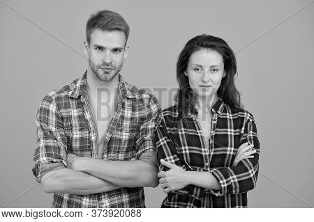 We Are Serious. Matching Outfits. Fashion Clothes Shop. Modern Couple. Expressing Freedom. Young And