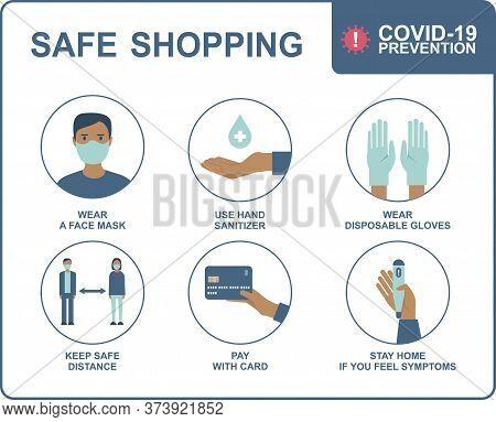 Quarantine Coronavirus 2019-ncov Epidemic Precautions. Safe Shopping In Public Places During The Cor