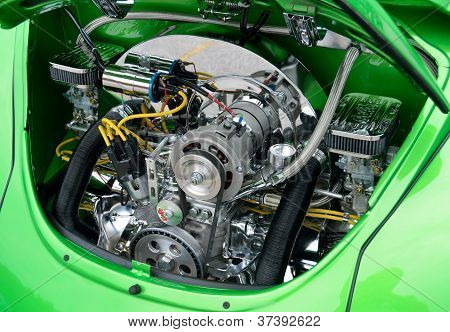 Customized Volkswagen Beetle Engine