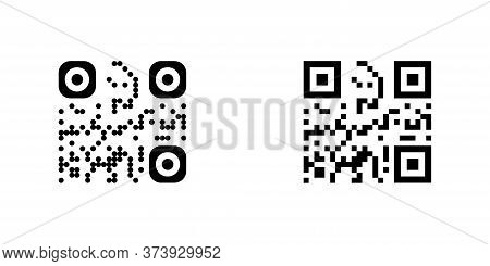 Code. Qr Code Vector Icon. Bar Code, Isolated On White Background. Vector Illustration