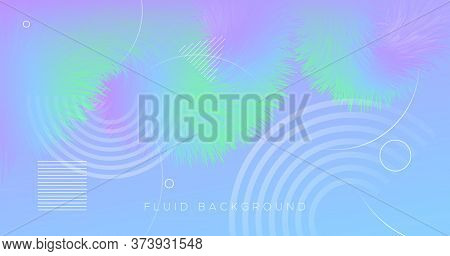 3d Vibrant Background. Pastel Music Flyer. Liquid Futuristic Concept. Fluid Gradient Motion. Flow Vi