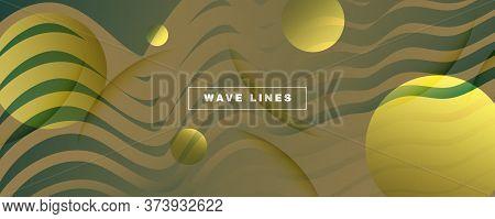 Green Landing Page Design. 3d Fluid Line Texture. Vector Technology Movement. Camo Futuristic Illust