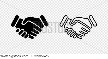 Handshake. Business Concept Handshake. Handshake Vector Icon, Isolated. Vector Illustration