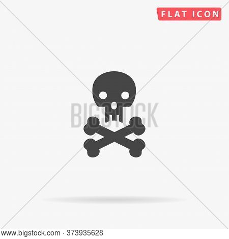 Jolly Roger Flat Vector Icon. Hand Drawn Style Design Illustrations.