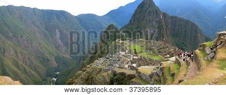 Ancient inca lost city of Machu Picchu, Peru
