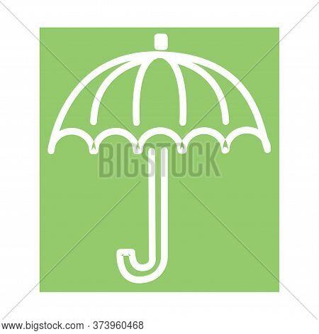 Umbrella Closeup. Yellow Umbrella Icon. Yellow Umbrella Icon Isolated On Background In Eps10