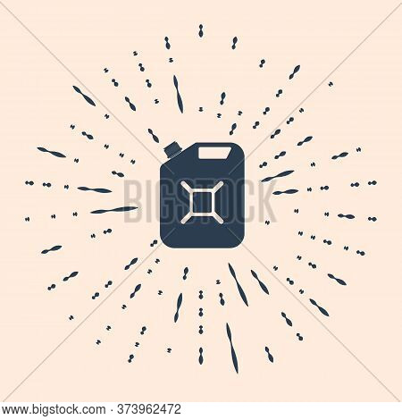 Black Canister For Gasoline Icon Isolated On Beige Background. Diesel Gas Icon. Abstract Circle Rand